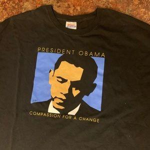 32aaaa775c4696 Vintage Shirts - Barack Obama Tee